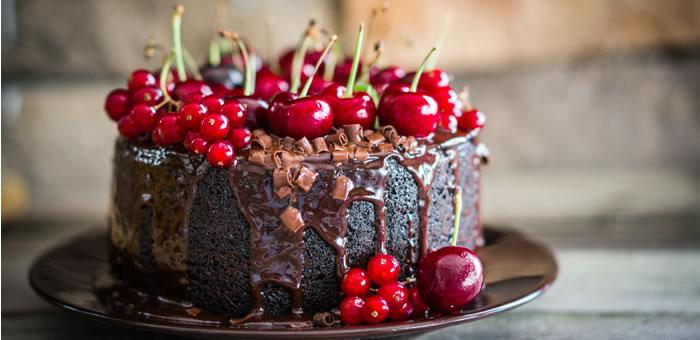 cherry-choco-cake top
