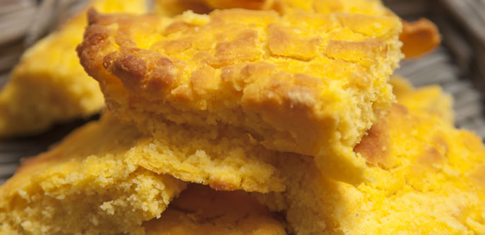 corn bread top